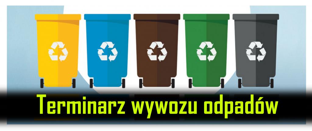 Terminarz wywozu odpadów
